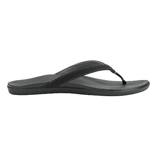 Womens OluKai Ho'opio Sandals Shoe - Onyx/Onyx 10