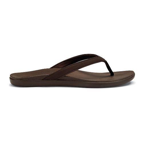 Womens OluKai Ho'opio Sandals Shoe - Kona Coffee 5