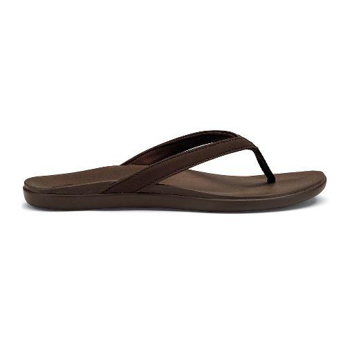 Womens OluKai Ho'opio Sandals Shoe - Kona Coffee 7