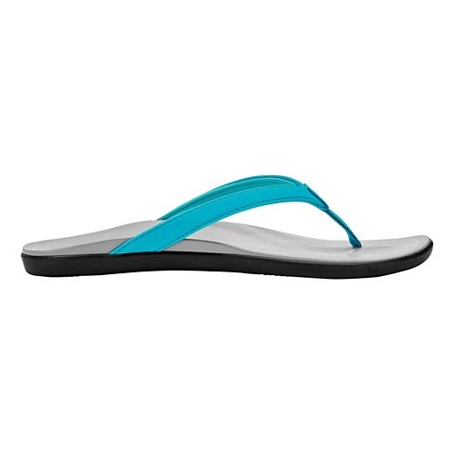 Womens OluKai Ho'opio Sandals Shoe - Blue Crush/Pale Grey 10