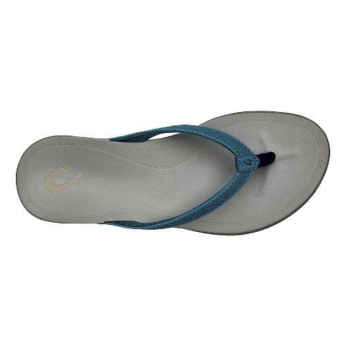 Womens OluKai Ho'opio Sandals Shoe - Stormy Blue/Grey 9