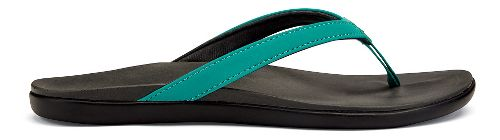 Womens OluKai Ho'opio Sandals Shoe - White/Black 10