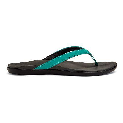 Womens OluKai Ho'opio Sandals Shoe - Mermaid/Grey 5