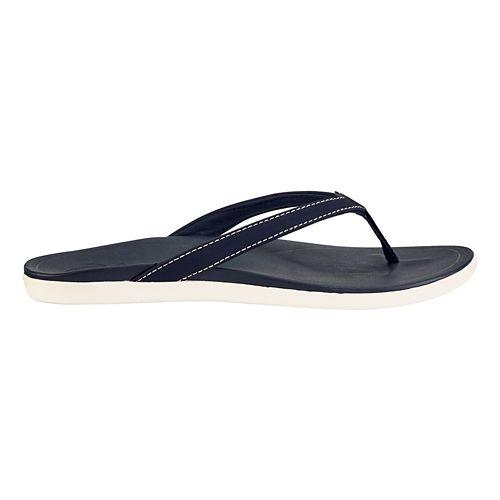 Womens OluKai Ho'opio Sandals Shoe - Dark Hibiscus/Dark Hibiscus 8