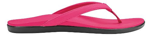 Womens OluKai Ho'opio Sandals Shoe - Dark Hibiscus/Dark Hibiscus 9
