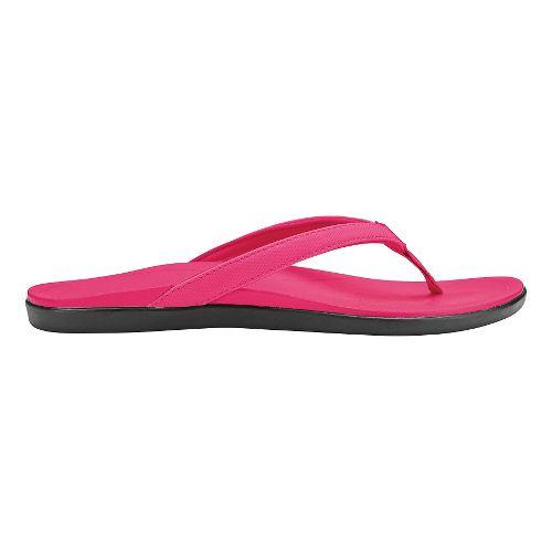 Womens OluKai Ho'opio Sandals Shoe - Dark Hibiscus/Dark Hibiscus 10