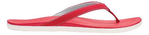 Womens OluKai Ho'opio Sandals Shoe - Ohia Red/Ohia Red 6
