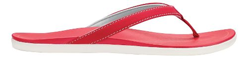 Womens OluKai Ho'opio Sandals Shoe - Ohia Red/Ohia Red 9