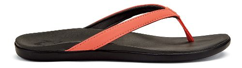 Womens OluKai Ho'opio Sandals Shoe - Coral/Dark Shadow 6