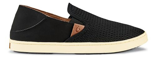 Womens OluKai Pehuea Casual Shoe - Black/Black 5