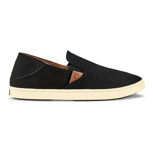 Womens OluKai Pehuea Casual Shoe - Black/Black 6