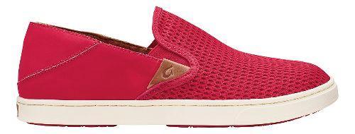 Womens OluKai Pehuea Casual Shoe - Ohia Red/Ohia Red 6