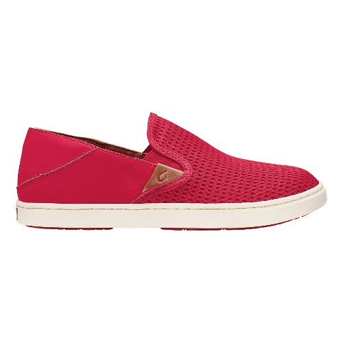 Womens OluKai Pehuea Casual Shoe - Ohia Red/Ohia Red 8.5