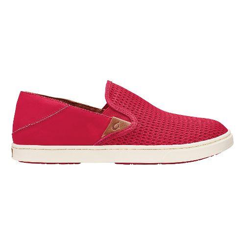 Womens OluKai Pehuea Casual Shoe - Ohia Red/Ohia Red 9