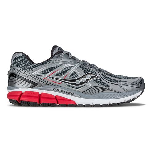 Mens Saucony Echelon 5 Running Shoe - Grey/Red/Black 11