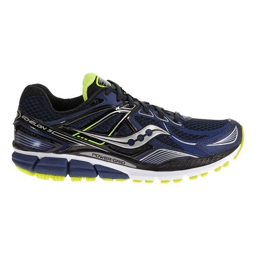 Mens Saucony Echelon 5 Running Shoe - Navy/Black 7.5