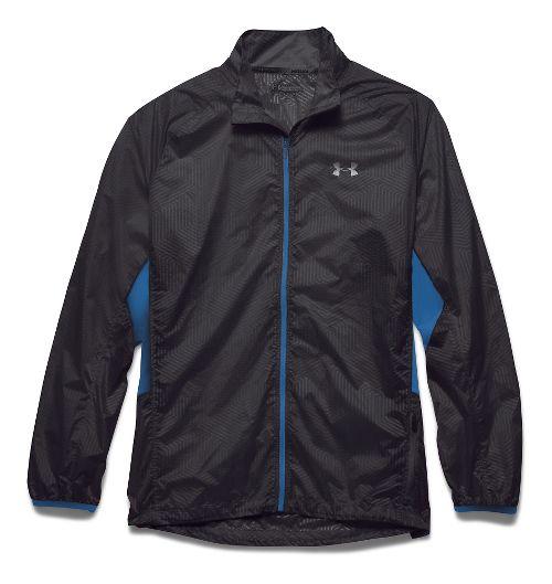 Mens Under Armour Storm Coldgear Infrared Packable Outerwear Jackets - Black/Blue Jet XL