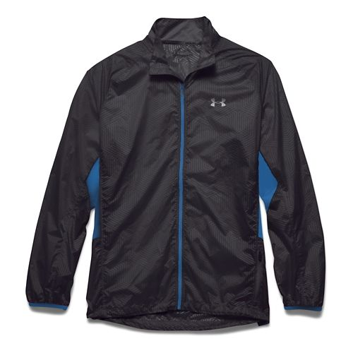 Mens Under Armour Storm Coldgear Infrared Packable Outerwear Jackets - Black/Blue Jet XL