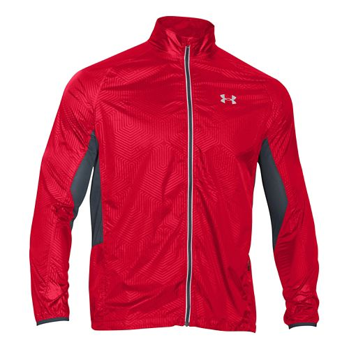 Mens Under Armour Storm Coldgear Infrared Packable Outerwear Jackets - Red/Wire S