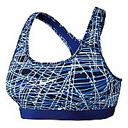 Womens Nike Pro Classic Tracer Sports Bra - Game Royal XL