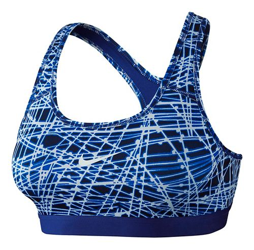 Womens Nike Pro Classic Tracer Sports Bra - Game Royal L