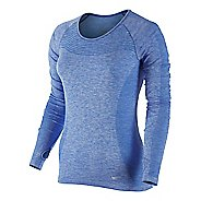 Womens Nike Dri-Fit Knit Long Sleeve Technical Tops