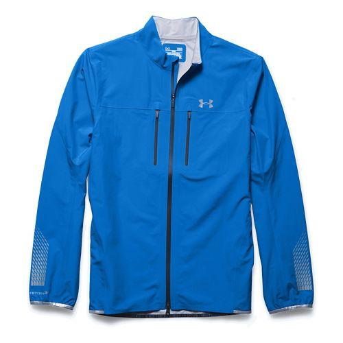 Mens Under Armour Storm Waterproof Outerwear Jackets - Blue Jet S