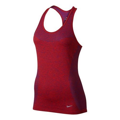 Womens Nike Dri-FIT Knit Sleeveless & Tank Technical Tops - University Red L