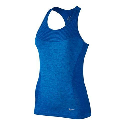 Womens Nike Dri-FIT Knit Sleeveless & Tank Technical Tops - Deep Royal Blue S