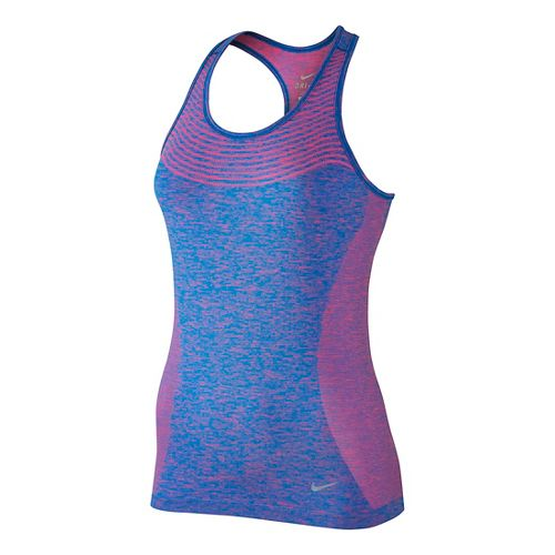 Womens Nike Dri-FIT Knit Sleeveless & Tank Technical Tops - Hyper Pink/Photo Blue L
