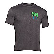 Mens Under Armour Run Into Ground T Short Sleeve Technical Tops