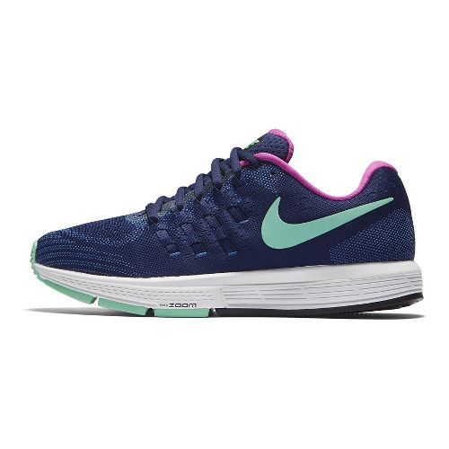 Womens Nike Air Zoom Vomero 11 Running Shoe - Blue/Green Glow 8.5