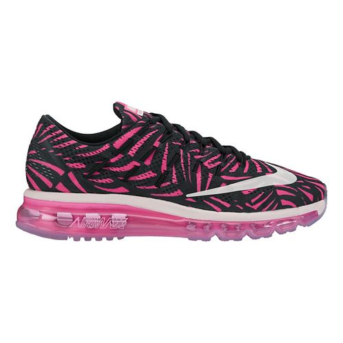 Womens Nike Air Max 2016 Print Running Shoe - Black/Pink 6.5