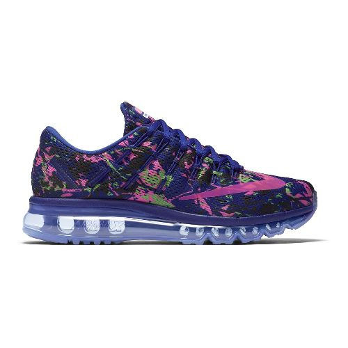 Womens Nike Air Max 2016 Print Running Shoe - Concord/Pink 8.5