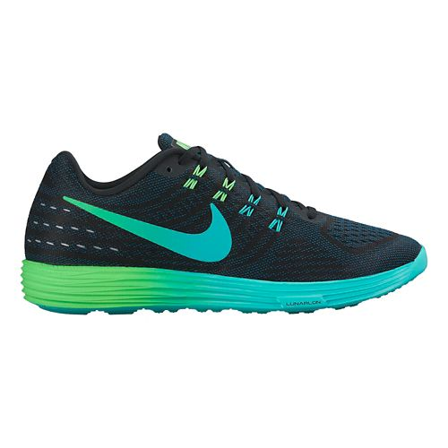 Mens Nike LunarTempo 2 Running Shoe - Black/Rio 11.5