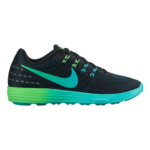 Womens Nike LunarTempo 2 Running Shoe - Black/Rio 7.5