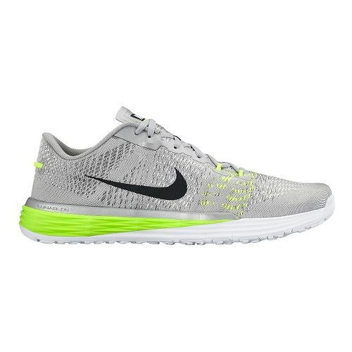 Mens Nike Lunar Caldra Cross Training Shoe - Silver/Volt 11.5