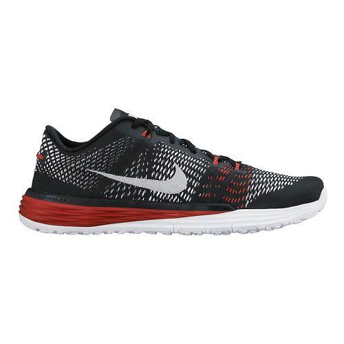 Men's Nike Lunar Caldra Cross Training Shoe - Black/Red 12.5