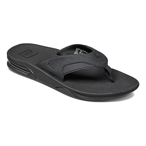 Mens Reef Fanning Sandals Shoe - Black/Black 14