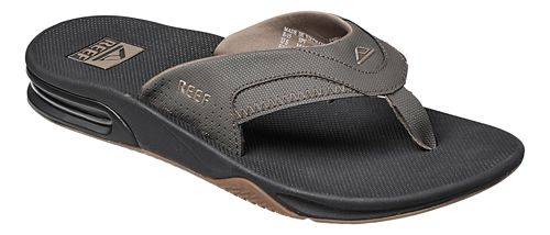 Mens Reef Fanning Sandals Shoe - Black/Black 11