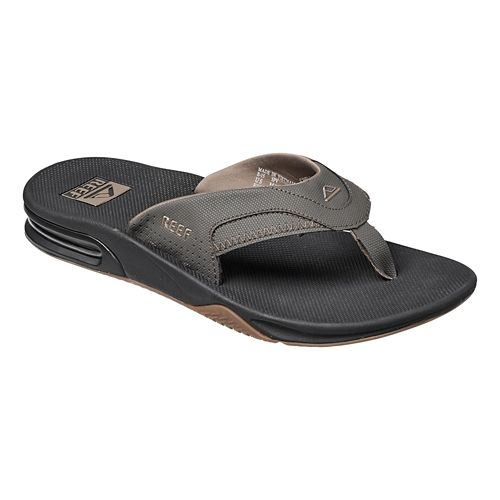 Mens Reef Fanning Sandals Shoe - Vintage Brown 8