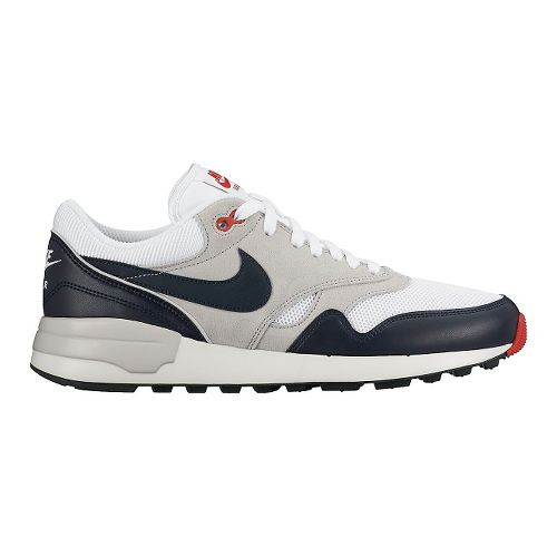 Mens Nike Air Odyssey Casual Shoe - White/Navy 11.5