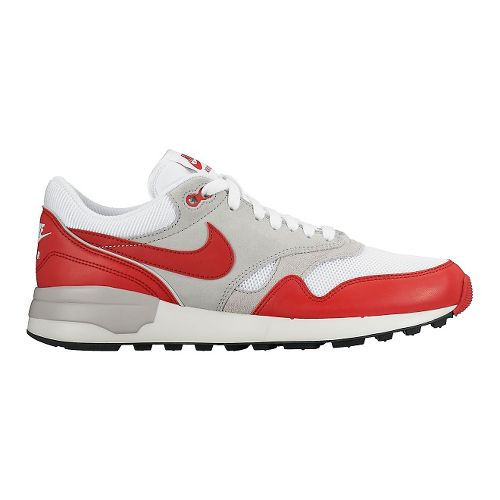 Mens Nike Air Odyssey Casual Shoe - White/Red 10.5
