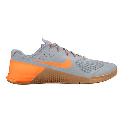 Mens Nike MetCon 2 Cross Training Shoe - Grey/Citrus 8