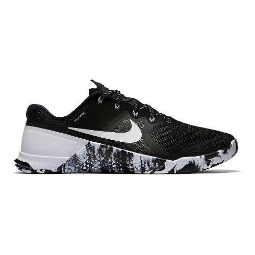 Mens Nike MetCon 2 Cross Training Shoe - Black/White 10.5