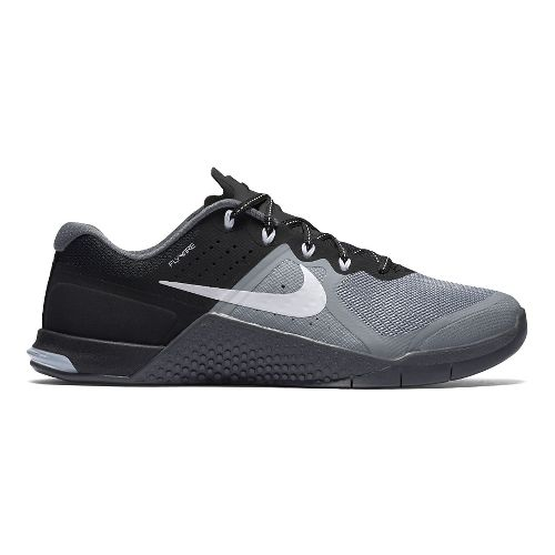 Womens Nike MetCon 2 Cross Training Shoe - Black/Grey 6.5
