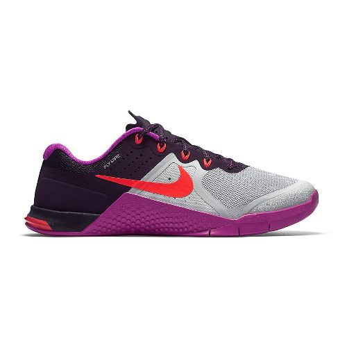 Womens Nike MetCon 2 Cross Training Shoe - Platinum/Pink 9.5
