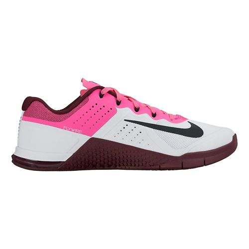Womens Nike MetCon 2 Cross Training Shoe - White/Pink 6.5