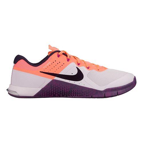 Womens Nike MetCon 2 Cross Training Shoe - Lilac/Mango 8.5