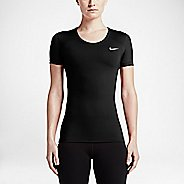 Womens Nike Pro Cool Short Sleeve Technical Tops - Black XL